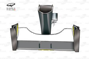 McLaren MP4-15 front wing