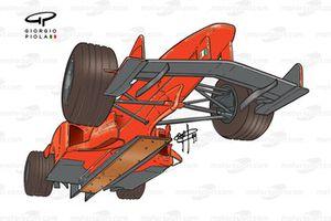Ferrari F399 from beneath