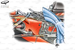 Ferrari F2003-GA rear suspension detail