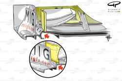 Plaque d'extrémité de l'aileron avant de la Brawn BGP001