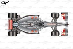 Vue de dessus de la McLaren MP4-24