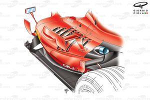 Ferrari F2007 (658) 2007, prese d'aria per il raffreddamento