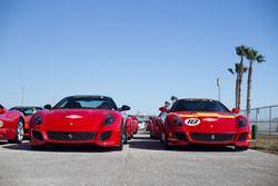 A pair of Ferrari 599 GTO