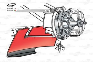 Williams FW21 front hub