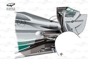 Mercedes W05 güncellenen motor kapağı