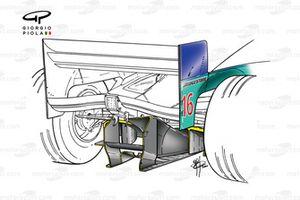 Sauber C19 2000 diffuser detail
