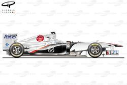 Sauber C30 side view, Canadian GP