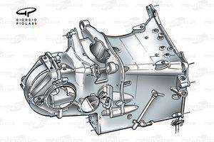 Minardi PS01 2001 gearbox casing