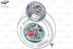 Mercedes W02 wheel nut