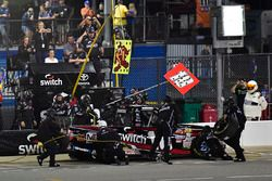 Noah Gragson, Kyle Busch Motorsports Toyota makes a pit stop