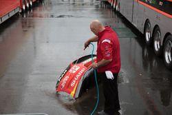 Team Penske Ford mechanic at work