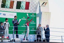 Podium: Sergio Sette Camara, MP Motorsport, Luca Ghiotto, RUSSIAN TIME, Antonio Fuoco, PREMA Powerte