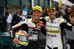 Race winner Dominique Aegerter, Kiefer Racing, second place Thomas Luthi, CarXpert Interwetten