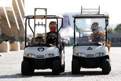 Yas Marina Circuit, Abu Dhabi, UAE. Luca Ghiotto, Trident & Antonio Giovinazzi, PREMA Racing Thursd