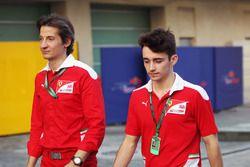 Massimo Rivola, Direttore Ferrari Driver Academy con Charles Leclerc, pilota collaudatore Haas e Cam
