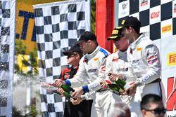 Podium: race winners Michael Cooper, Jordan Taylor, Cadillac Racing, second place Patrick Long, Jörg Bergmeister, Wright Motorsports, third place Johnny O'Connell, Ricky Taylor, Cadillac Racing