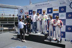 Podio SGT3 gara 2, Comandini-Cerqui (BMW Team Italia,BMW M6 S.GT3 #15)