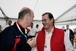 Roger Moore avec Wolfgang Ullrich
