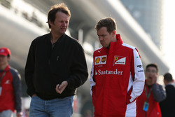 Sebastian Vettel, Ferrari and Michael Schmidt, Journalist