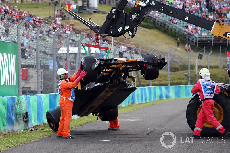 Coche chocado de Jolyon Palmer, Renault Sport F1 Team RS17