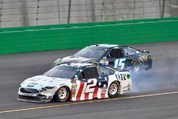 Brad Keselowski, Team Penske Ford, Reed Sorenson, Premium Motorsports Chevrolet