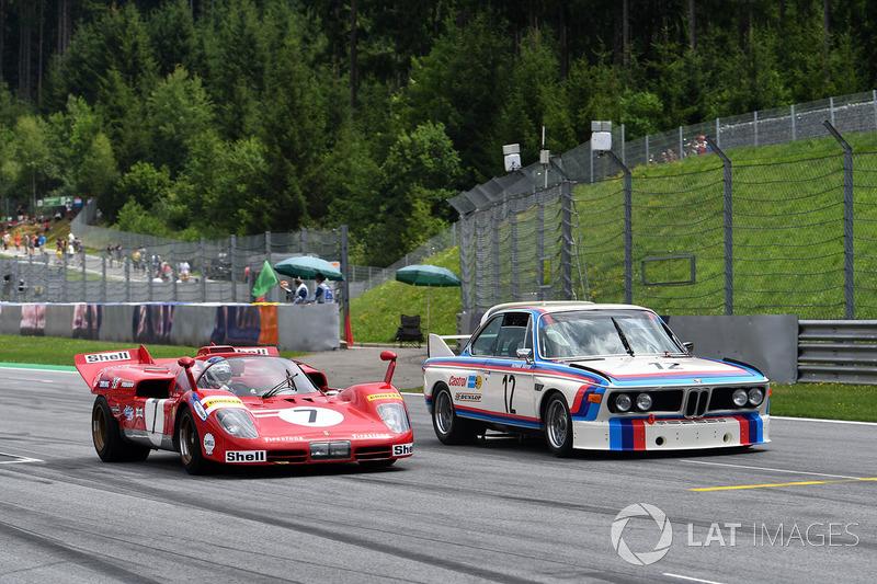 Jean Alesi, Ferrari 512S; Dieter Quester, BMW 3.0 CSL
