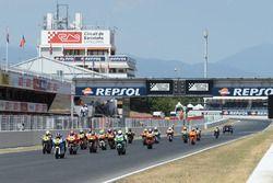 Aksi start CEV Moto2 Barcelona