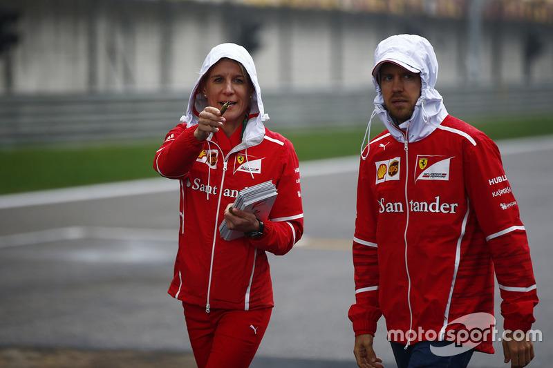Britta Roeske dan Sebastian Vettel, Ferrari