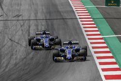 Pascal Wehrlein, Sauber C36 and Marcus Ericsson, Sauber C36