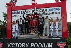 PC Podium: Winnaar #38 Performance Tech Motorsports ORECA FLM09: James French, Patricio O'Ward, twee