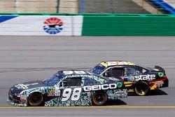 Casey Mears, Biagi-DenBeste Racing Ford and Jeb Burton, JGL Racing Toyota