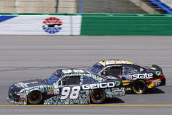 Casey Mears, Biagi-DenBeste Racing Ford y Jeb Burton, JGL Racing Toyota