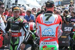 Winner Jonathan Rea, Kawasaki Racing, third place Chaz Davies, Ducati Team
