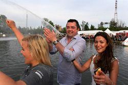 Floßrennen in Montreal: Eric Boullier, McLaren-Rennleiter