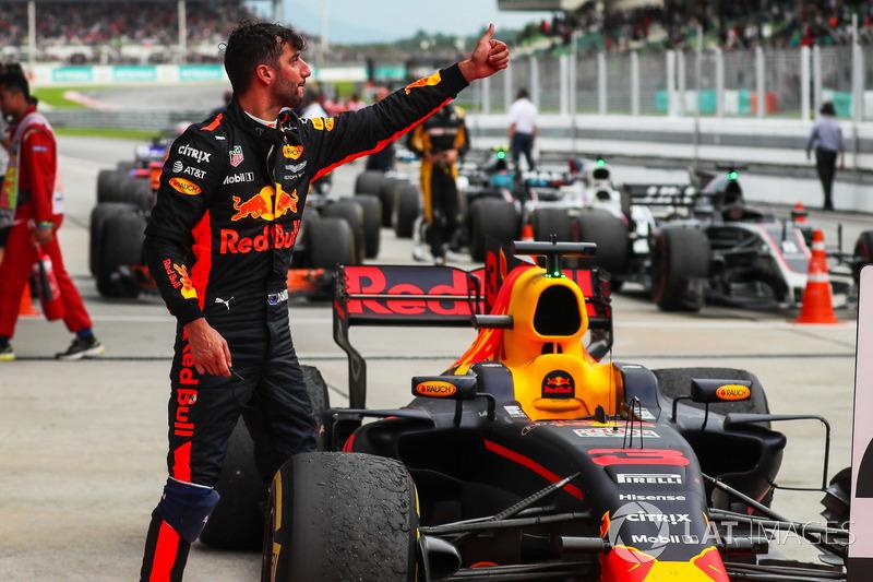 Daniel Ricciardo, Red Bull Racing, di parc ferme