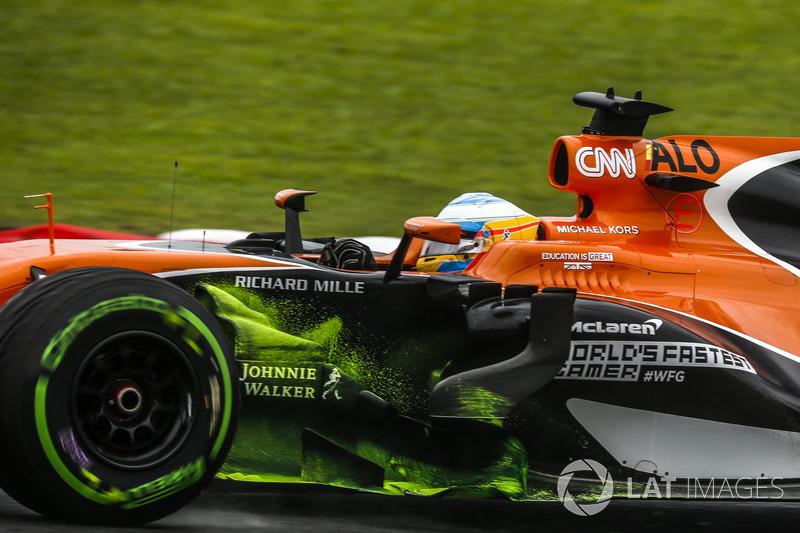 Fernando Alonso, McLaren MCL32, vernice aerodinamica