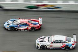 #68 Chip Ganassi Racing Ford GT: Billy Johnson, Stefan Mücke, Olivier Pla, #24 BMW Team RLL BMW M6 G