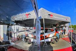 La voiture de Hiroki Arai, Glenn MacNeall, Tommi Mäkinen Racing Oy Ford Fiesta R5