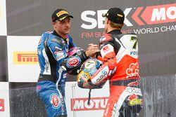 Podyum: Yarış galibi Chaz Davies, Ducati Team, 2. Alex Lowes, Pata Yamaha