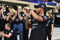 Lewis Hamilton, Mercedes AMG F1 at the team celebrations