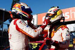Race winner Scott McLaughlin, Team Penske Ford, second place Fabian Coulthard, Team Penske Ford