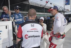 Takuma Sato, Oriol Servia, and Graham Rahal, Rahal Letterman Lanigan Racing Honda
