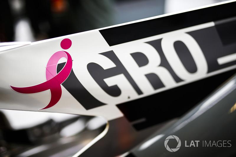 Logo en el coche de Romain Grosjean, Haas F1 Team VF-17