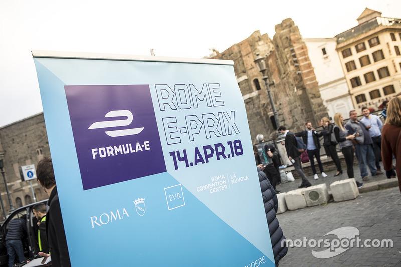 Rome ePrix signage