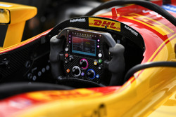 Il volante di Ryan Hunter-Reay, Andretti Autosport Honda Cosworth
