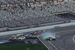 Incidente, Brandon Jones, Joe Gibbs Racing, Juniper Toyota Camry