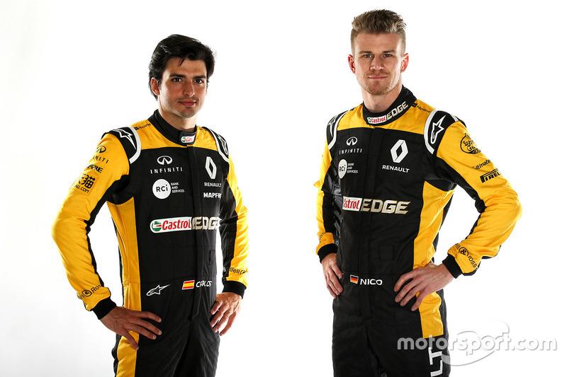 Carlos Sainz, Nico Hülkenberg, Renault F1 Team