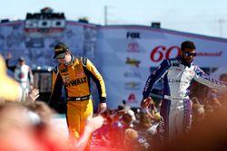Erik Jones, Joe Gibbs Racing Toyota Camry, Darrell Wallace Jr., Richard Petty Motorsports Chevrolet