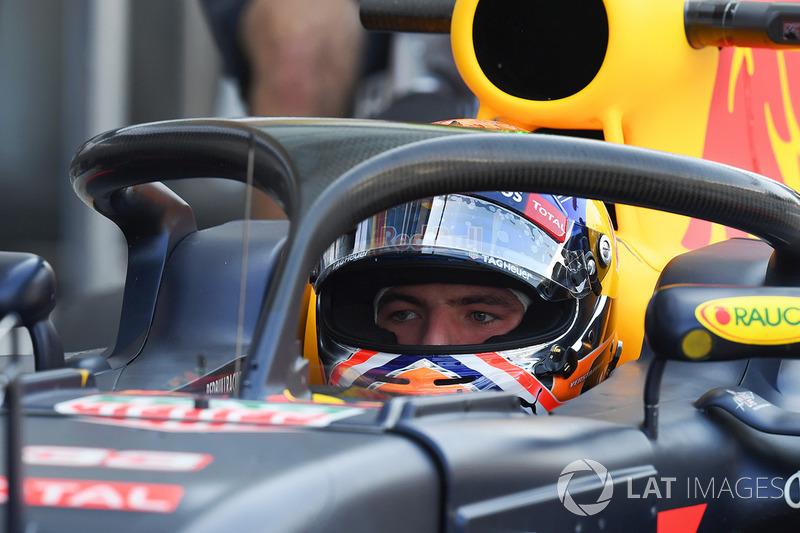 Max Verstappen, Red Bull Racing con el halo