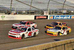 John Hunter Nemechek, Chip Ganassi Racing, Chevrolet Camaro Fire Alarm Services, Inc. leads